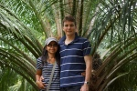 Picture of me and Amornrat on the Palm plantation in Thailand.